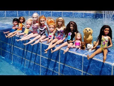 Xxx Mp4 POOL Elsa And Anna Toddlers Barbie Boat Ride Floaties Swim Water Fun Splash 3gp Sex