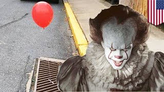 Red 'It' balloons popping up on sewer grates in Pennsylvania town - TomoNews