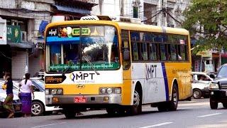 Myanmar Buses - Yangon November 2015