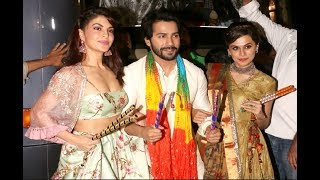 Judwaa 2 Promotion - Varun Dhawan,Jacqueline Fernandez And Taapsee Pannu Playing Garba With Falguni