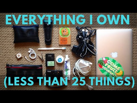 Everything I Own Minimalist Less than 25 things