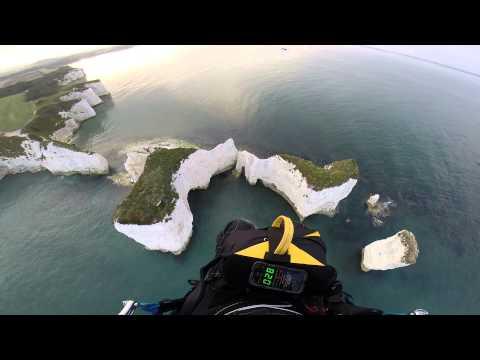 Paramotor water crash, Old Harry Rocks England.mp4