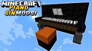 Minecraft: PIANO - Toca cualquier canción SIN MODS! En Minecraft Vanilla