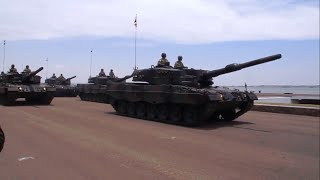 HUT TNI 69 : Defile Senjata dan Kendaraan Tempur