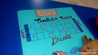 DIFFERENT tambola ticket HUM TUM 😜😜by Jyoti creation kitty with fun