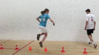 Agility and speed training squash Dennis & Daniek Krukkert o.l.v. Dagmar Vermeulen