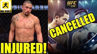 BREAKING NEWS:Robert Whittaker OUT of UFC 234 Main Event with Kelvin Gastelum