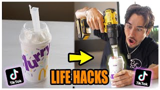 We TESTED Viral TikTok Life Hacks.... (THIS IS AWESOME) *PART 8*