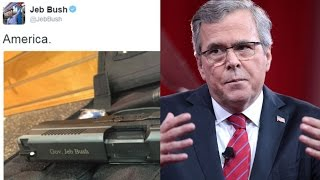 Jeb! Tweets Photo Of Gun, The Internet Responds