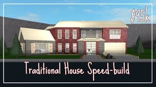 Bloxburg - Traditional House Speed-build