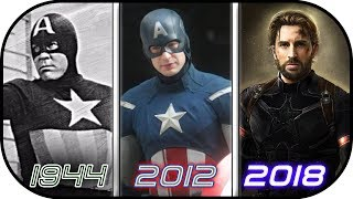 EVOLUTION of  Captain America in Movies (1944-2018) History of Avengers Infinity War
