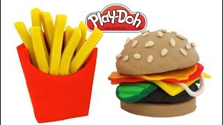 How to Make Play Doh Happy Meal Learn Fruits & Vegetables for Kids