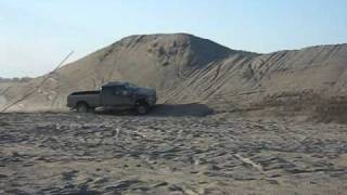 2009 Ford F-350 at a sand pit.  Commodore's Cranes Pick-up Truck