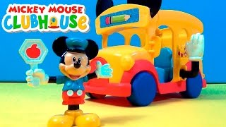 Mickey Mouse ClubHouse  Ônibus escolar do Mickey ☆ Motoneve Scooter ☆Barco e Ambulância de Donald