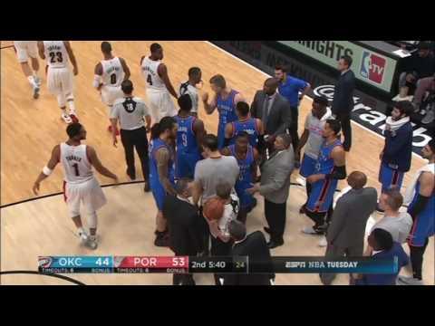 Russell Westbrook Kicks Ball From Damian