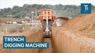Monster Machine Can Dig Trenches In Seconds