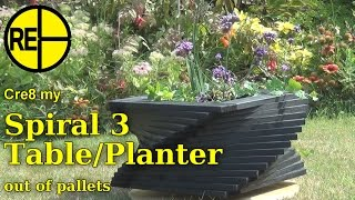 Make a Garden Planter or Side Table from Pallets - A Cre8 Build