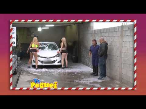 Pegadinha Te Peguei Loiraças lavadoras de carro deixam motoristas enlouquecidos