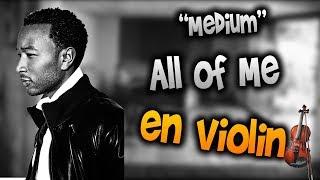 John Legend - All of Me en Violín  tab,tutorial,partitura,como tocar HD Tutorial