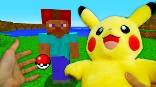 REALISTIC MINECRAFT - STEVE BECOMES A POKEMON TRAINER!✨