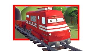 Troy The Train and the Dry lakes in Train Town -  Train construction cartoon for Children