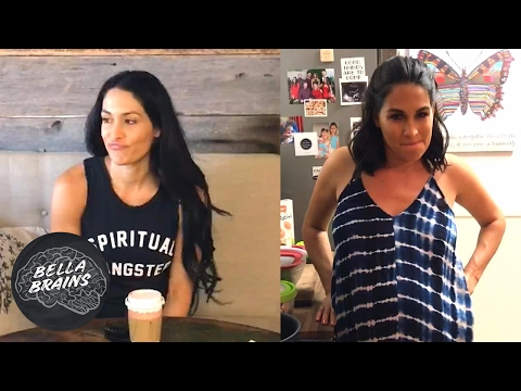 Would Daniel Bryan s Bella Brains question stump you See how Brie and Nikki answered 😂