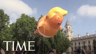 Protesters Fly A Giant Baby Trump Balloon Over London | TIME