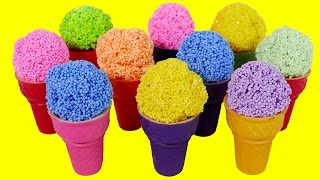 Ice Cream Play Foam Surprise Toys for Children Learn Colors