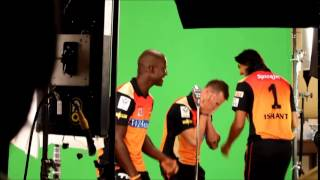 The SRH players putting on their dancing shoes