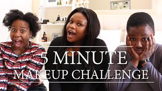 5 Minute Makeup Challenge (ft. Cynthia Gwebu) | Pap Culture Reacts