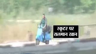 Salman Khan Shoots for 'Sultan', Seen Riding a Scooter | Sultan Movie Shooting