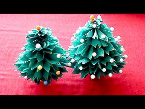 How to Make a 3D Paper Xmas(christmas) Tree   DIY Video Tutorial