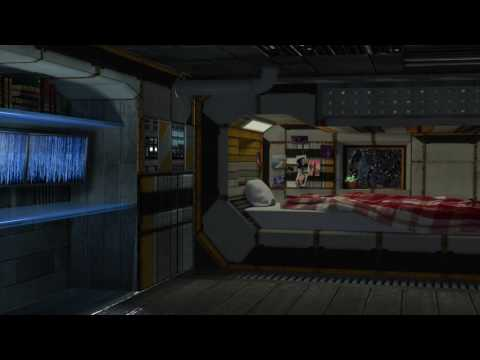Spaceship Bedroom Ambience – Relaxing in the Sleeping Quarters White Noise, ASMR, Relaxation