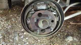How to change brake drum rear Toyota Corolla. Year 1991-2001.