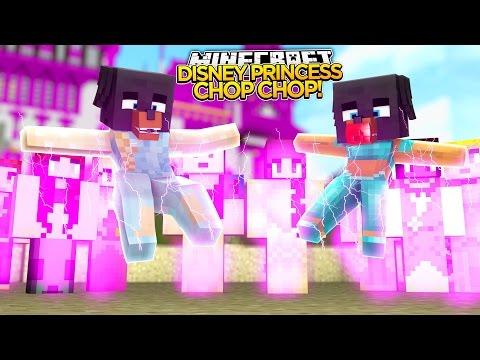 DISNEY PRINCESS CHOP CHOP Minecraft Hide N Seek Little Baby Max Games