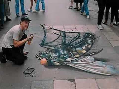 Julian Beever Desenhos na Calçada