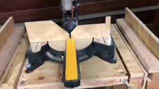 Flip table miter saw and bench grinder