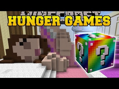 Minecraft GAMINGWITHJEN S BEDROOM HUNGER GAMES Lucky Block Mod Modded Mini Game