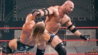 Triple H vs. Goldberg vs. Kane