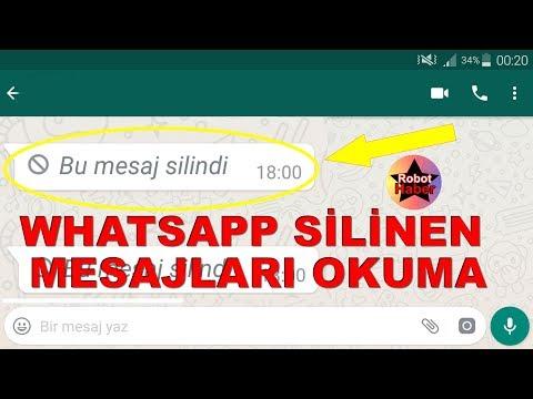 Whatsapp silinen mesajları geri getirme okuma 2018 (sesli anlatım)