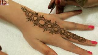 Easy Stylist Circular Mehndi Designs For Hands:Beautiful Heena On Upper Side By MehndiArtistica 2016