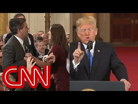 Xxx Mp4 Trump Clashes With Jim Acosta In Testy Exchange 3gp Sex