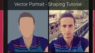 Vector Portrait - Shaping Tutorial - Photoshop - The Easy Way