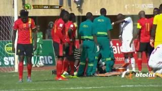 إنقاذ حياة لاعب بعد بلع لسانه في مباراة اوغندا والكونغ (تصفيات كاس عالم)