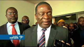 Zimbabwe Pres. Mnangagwa joins mourners at Tsvangirai residence