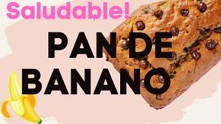 PAN DE BANANO SALUDABLE | PALEO | HEALTHY|BANANA