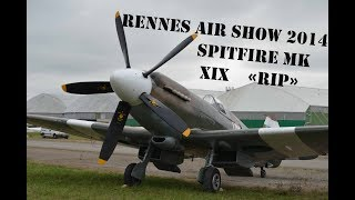 Spitfire Mk XIX Engin Start  at Renne AirShow 2014