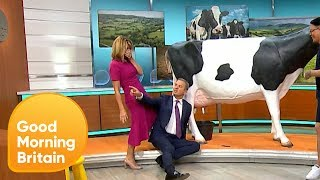 Jeremy Kyle Learns How to Milk a Cow! | Good Morning Britain
