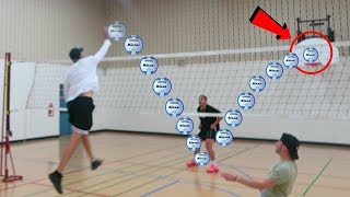 IMPOSSIBLE VOLLEYBALL TRICK SHOTS