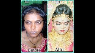 dark skin bridal makeup 😊 { Hindi }2017
